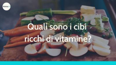 cibi ricchi di vitamine